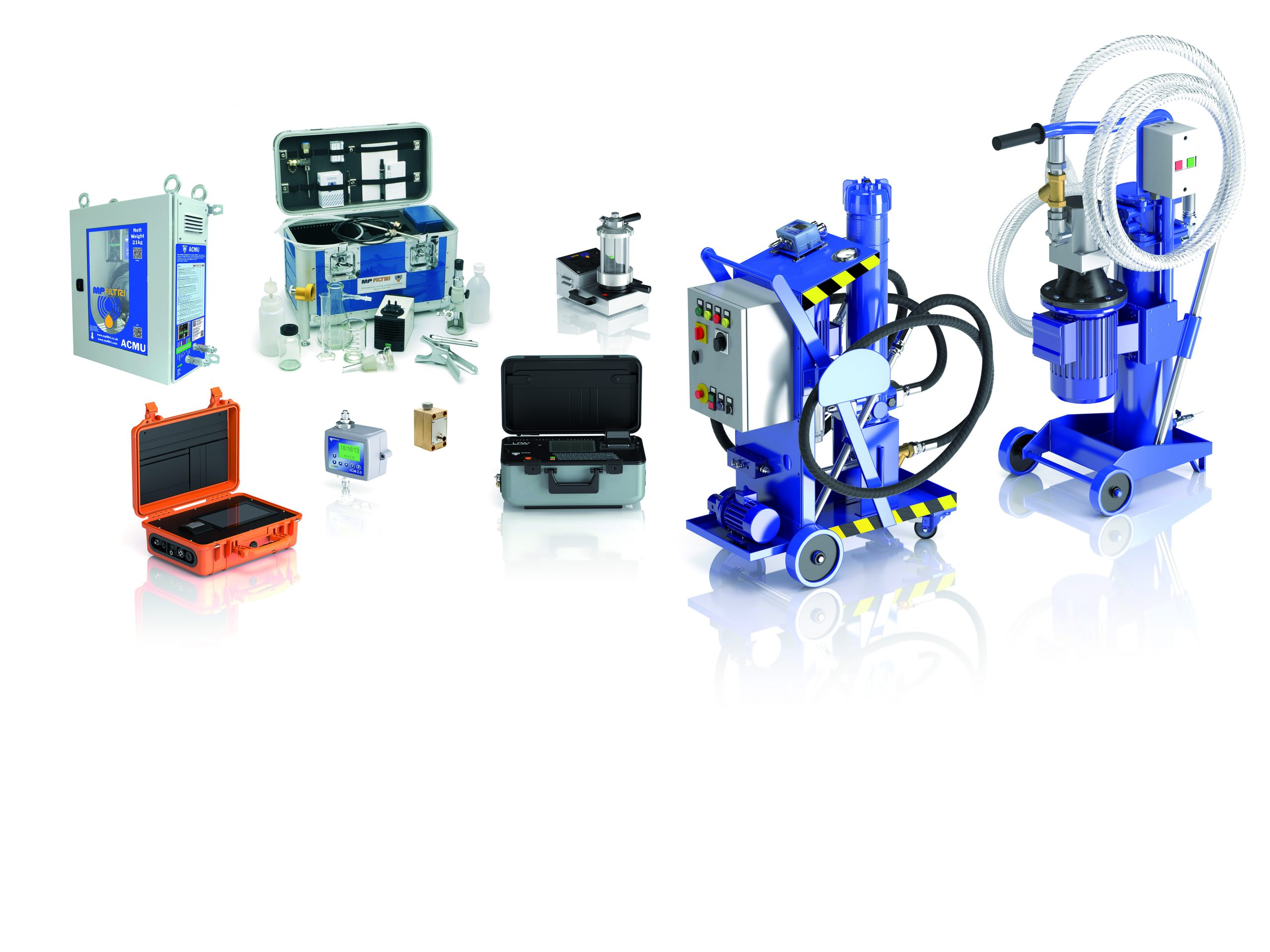 appareils de mesure de la contamination des circuits hydrauliques et groupes de filtration mp filtri
