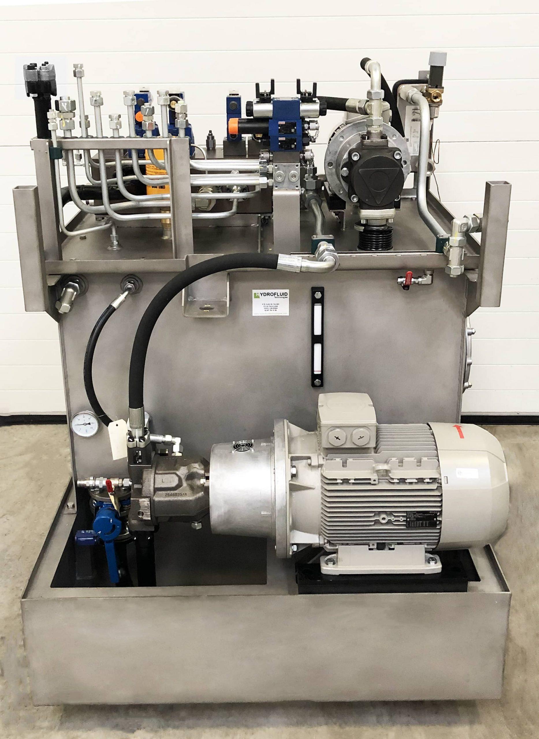 une centrale hydraulique industrielle